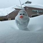 キロロリゾート オラフの雪像