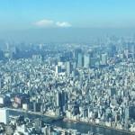 東京スカイツリーから富士山