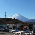 鮎沢PAから富士山