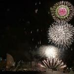 横浜開港祭花火をマリーンシャトルから鑑賞