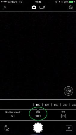 RICOH THETA S インターバル合成撮影 ISO