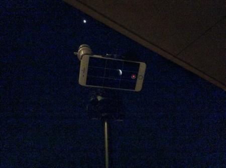 スーパーブルーブラッドムーンの動画をiPhoneで撮影