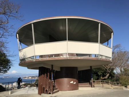 披露山公園の展望台