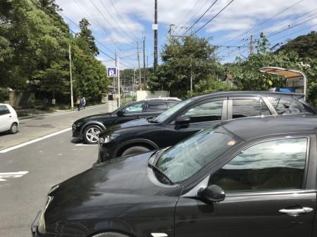 英勝寺の駐車場