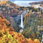 明智平展望台の紅葉の絶景