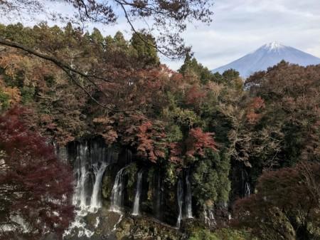 iPhone7 Plusで白糸の滝と富士山を撮影
