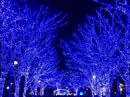 渋谷、青の洞窟をiPhone 7 Pllusで撮影