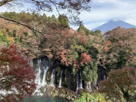 iPhone XS Maxで白糸の滝と富士山を撮影